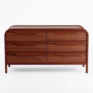 Marienne 6-Drawer Dresser 3D