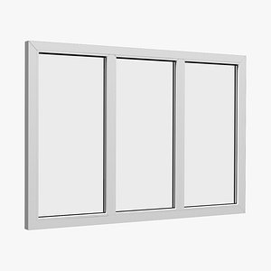window fixed 3D model