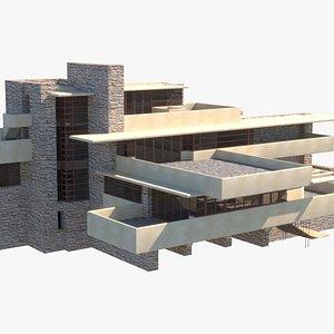 3D frank lloyd fallingwater