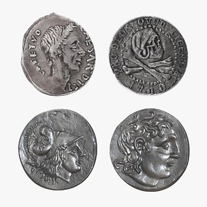 Silver Ancient Coins Collection model