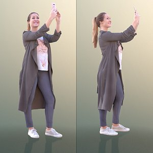 10299 Rocio - Casual Woman Standing Taking A Photo 3D model