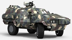 Dozor B light military vehicle 3D model