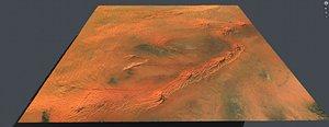 3D Desert landscape in Libiya