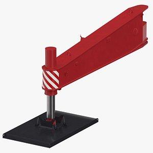 3D crane outrigger large 01 model