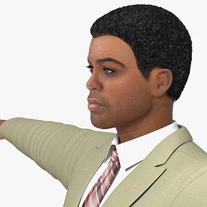 light skin black man model