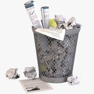 3d waste paper basket