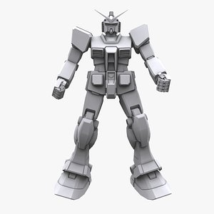 3D gundam mobile suit