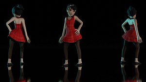 3D model Young girl 3D Rigged Model