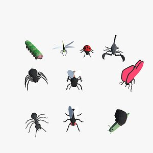 9t5 Low Poly Insects 3D