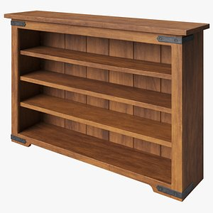 3D model Acajou Rustic Bookcase
