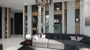 3D Modern interior house WS model