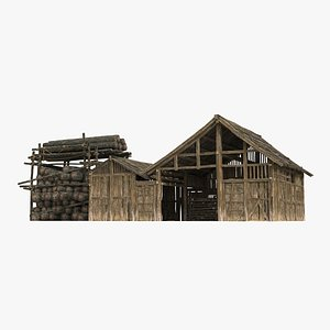 Ancient charcoal factory model