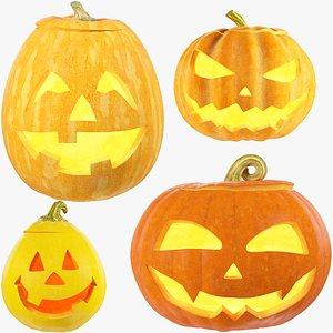 Halloween Pumpkins Family Collection V4 3D