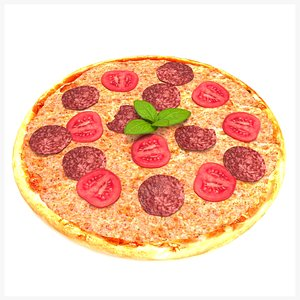 3D pizza tomatoes