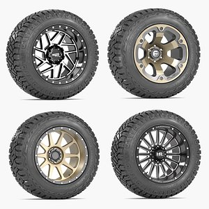 3D OFF ROAD WHEEL AND TIRE COLLECTION 1 model