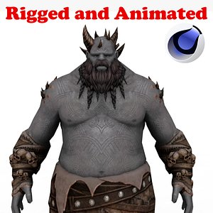 3D Giant Range Rigged and Animated