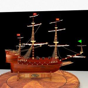 3D chinese treasure ship
