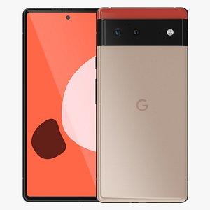 3D Google Pixel 6 Pale Orange