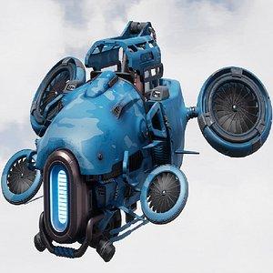 drone quadrocopter quadcopter 3D model