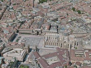 3D milan city