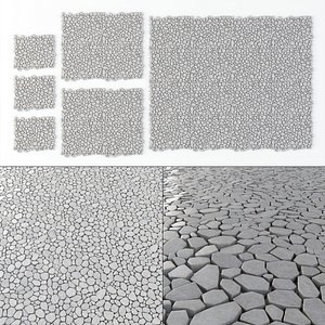 cobblestones stone 3D