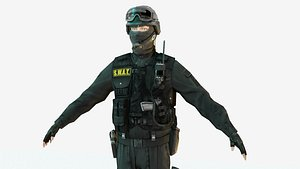 police special force 3D model