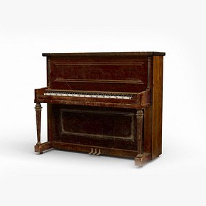 vintage piano 3D model