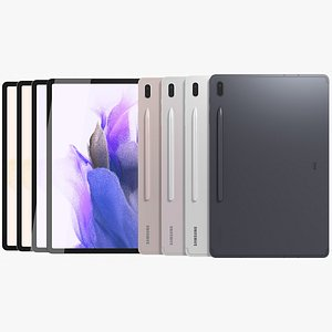 3D Samsung Galaxy Tab S7 FE All Colors model