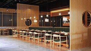 3D cafe restaurant modern model