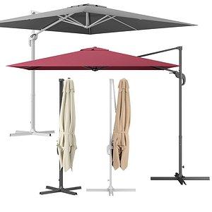 3D cantilever parasol