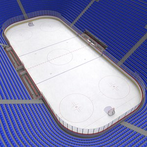 3D ice hockey rink stands model