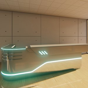 3D reception counter