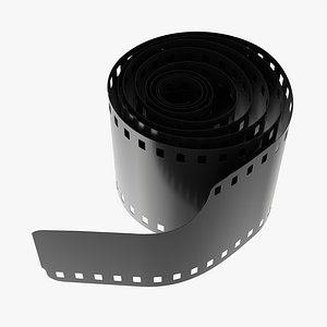 Photographic film roll small 3D model