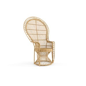 3D Nanu Heirloom Rattan Peacock Chair model