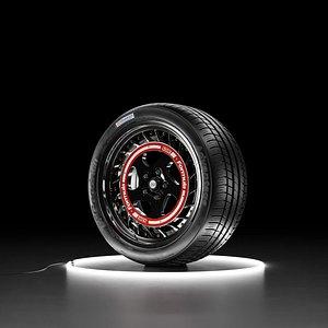 Car wheel BFGoodrich tire with SSR Formula Aero Spoke rim 3D model