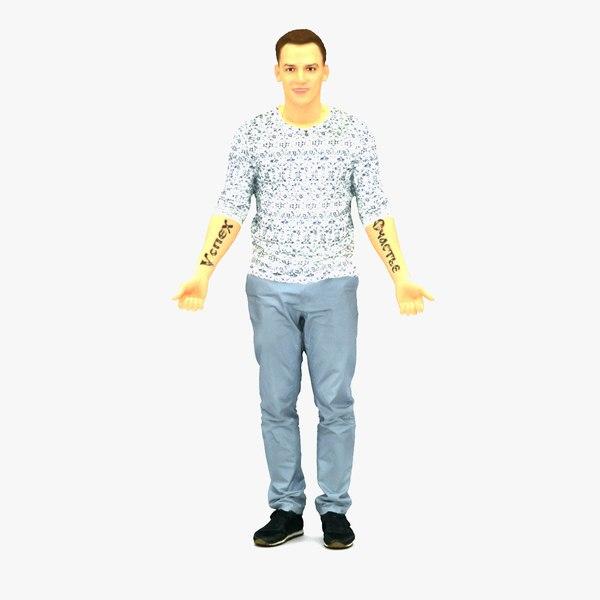 scanned realistic human 3D model