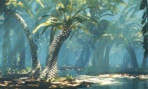 jurassic forest 3D model