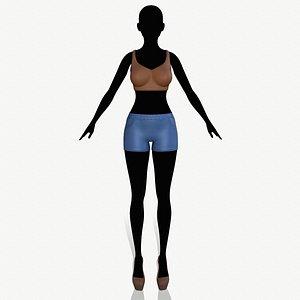 3D model fashion clothing