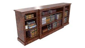 bookcase burr walnut veneered 3D model