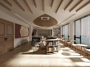3D Book Bar - Reading Room