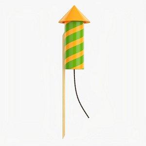Fireworks rocket small model