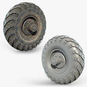 3D Truck Wheel 02 GAZ-66