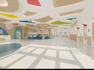 Kindergarten Corridor 3D model