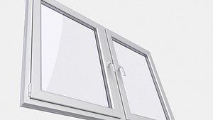 3D PVC Window 3D Model 2