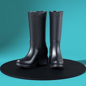 3D Moncler Simone Rocha Rebekah Rain Boots