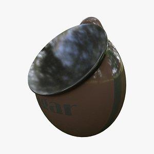 3D sugar pot