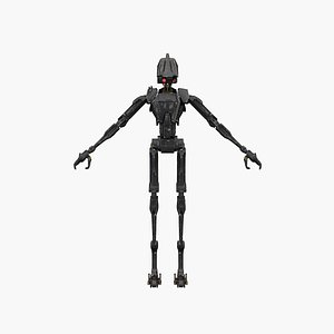 assassin droid 3D model