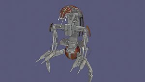 droideka starwars - 3D model