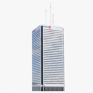 First Canadian Place V3 lowpoly 3D model