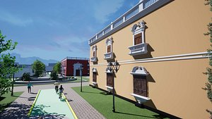 3D model CENTRO CULTURAL TRUJILLO - PERU, CLUB LIBERTAD